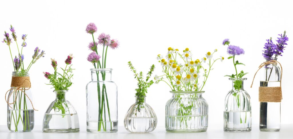 Et bilde som inneholder bord, briller, holder, vase  Automatisk generert beskrivelse